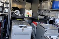 Küchenauszug und Kühlbox